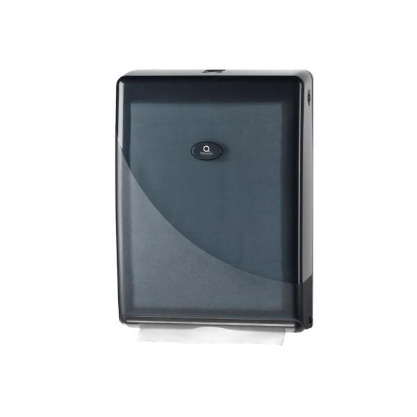 Luxe handdoekdispenser, zwart, geschikt voor voorgevouwen handdoekjes