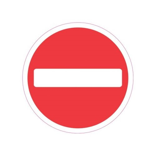 Ronde Vloersticker Stopteken Verwijderbaar 20cm Rood